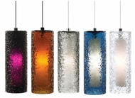 LBL HS547 Mini-Rock Candy Cylinder Hand-blown Modern Mini Pendant Light Fixture