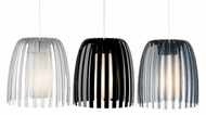LBL HS565 Mini-Olivia 100% Recyclable Plastic Contemporary Mini Pendant with Satin Nickel Finish