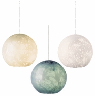 LBL HS542 Aquarii Blown-glass Globe Contemporary Mini Pendant Light