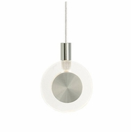 LBL HS447CRSC1B10 Bling Low-Voltage Mini Pendant Lighting - Clear Glass, Satin Nickel Finish