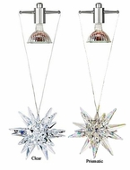 LBL HS159 Celeste Swarovski Crystal Prismatic Pendant with Halogen Downlight