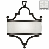 Fine Art Lamps 440250 Black & White Story 19 Inch Tall Transitional Wall Sconce Lighting Fixture