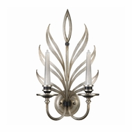 Fine Art Lamps 814650 Villandry 2 Lamp 21 Inch Tall Candle Wall Sconce - Silver Leaf