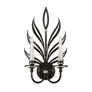 Fine Art Lamps 814650-2 Villandry Transitional 2 Candle 21 Inch Tall Toned Black Wall Light Fixture