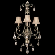 Fine Art Lamps 162150 A Midsummer Night's Dream Large 3-light Crystal Classic Wall Sconce Lighting