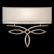 Fine Art Lamps 785650 Allegretto Silver Wide ADA 1-light Wall Sconce Lighting