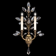 Fine Art Lamps 773150 Crystal Laurel Gold 2-light Candle Wall Sconce