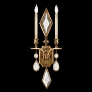 Fine Art Lamps 728850-3 Encased Gems Gold 1-light Candle Sconce with Clear Crystal