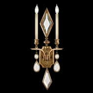 Fine Art Lamps 729150-3 Encased Gems 2-light Gold Wall Lighting with Clear Crystal