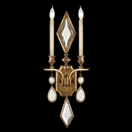Fine Art Lamps 729150-1 Encased Gems Gold 2-lamp Wall Lighting Sconce, Multi-Colored Crystal
