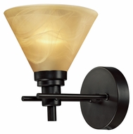 ELK 11410/1 Pemberton Oiled Bronze Transitional Wall Light With LED Option