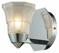 ELK 11390/1 Deco Transitional 5 Inch Tall Wall Light Sconce - Polished Chrome