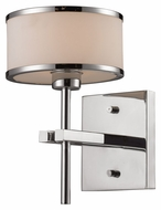 ELK 11415/1 Utica Polished Chrome Transitional 10 Inch Tall Wall Lighting