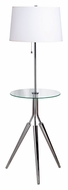 Kenroy Home 30510CH Rosie Tripod Chrome Finish 58 Inch Tall Floor Lamp With Tray