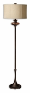 Uttermost 28457-1 Lahela Drum Shaded 67 Inch Tall Distressed Copper Bronze Floor Lamp
