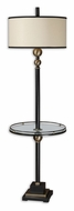 Uttermost 28571-1 Revolution 65 Inch Tall Rustic Black Floor Lamp Lighting With Glass Tray