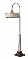 Uttermost 28585-1 Amerigo Tilting 68 Inch Tall Hanging Drum Shade Arc Floor Lamp