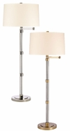Hudson Valley L905 Danby Swing Arm 55 Inch Tall Clear Body Floor Lamp
