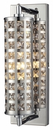 ELK 31346/1 Crystallure 14 Inch Tall Polished Chrome Bathroom Vanity Light Fixture - Small