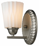 ELK 11405/1 Waverly Brushed Nickel Transitional 8 Inch Tall Wall Light