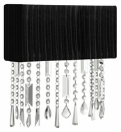 EGLO 89178A Aves Crystal 12 Inch Wide Black Shade Sconce Lighting