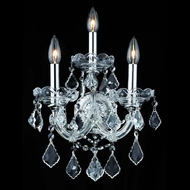Elegant 2800W3C-RC Maria Theresa Chrome Candelabra Antique Wall Sconce with Crystal