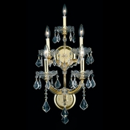 Elegant 2800W5G-RC Maria Theresa Classic Crystal Candle Wall Sconce - Gold