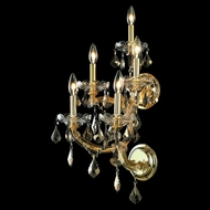 Elegant 2800W5G-GT-RC Maria Theresa Vintage 29.5  Tall Golden Teak Crystal Gold Wall Mounted Light Fixture