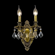 Elegant 9202W9AB-RC Rosalia Clear Crystal Antique Bronze Candle Wall Sconce