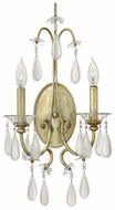 Fredrick Ramond 40312SLF Francesca 2-Lamp Vintage Crystal Tear Drop Candle Sconce