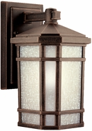 Kichler 11017PR Cameron 11 Inch Energy Efficient Fluorescent Outdoor Wall Lantern