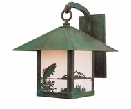 Arroyo Craftsman TRB-12TR Timber Ridge 12 inch Outdoor Wall Sconce with Trout Filigree