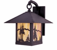 Arroyo Craftsman TRB-12MN Timber Ridge 12 inch Outdoor Wall Sconce with Mountain Filigree