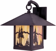 Arroyo Craftsman TRB-16MN Timber Ridge 16 inch Outdoor Wall Sconce with Mountain Filigree