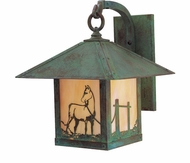 Arroyo Craftsman TRB-12HS Timber Ridge 12 inch Outdoor Wall Sconce with Horse Filigree