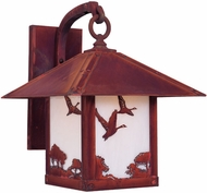 Arroyo Craftsman TRB-16GS Timber Ridge 16 inch Outdoor Wall Sconce with Goose Filigree