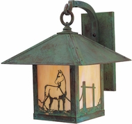 Arroyo Craftsman TRB-16HS Timber Ridge 16 inch Outdoor Wall Sconce with Horse Filigree