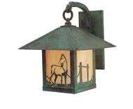 Arroyo Craftsman TRB-9HS Timber Ridge 9 inch Outdoor Wall Sconce with Horse Filigree