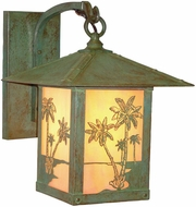 Arroyo Craftsman TRB-16PT Timber Ridge 16 inch Outdoor Wall Sconce with Palm Tree Filigree