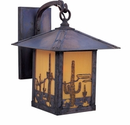Arroyo Craftsman TRB-9CT Timber Ridge 9 inch Outdoor Wall Sconce with Cactus Filigree