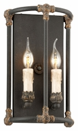 Troy B3523 Surrey 2 Candle Distressed Bronze 13 Inch Tall Traditional Wall Light