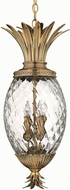 Hinkley 2222BB Brass Plantation 4 Light Tropical Pendant