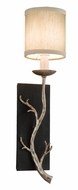 Troy B2841 Adirondack Rustic Graphite and Silver Leaf Branch Wall Light