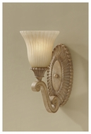 Feiss VS18801MAW Blaire Rustic Wall Sconce with Indian Scavo Glass Shade