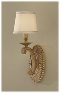 Feiss WB1573MAW Blaire Rustic Wall Sconce with Cream Beige Shantung Shade