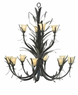 Meyda Tiffany 107852 Flowering Wheat 52 Inch Diameter 12 Lamp Lighting Chandelier