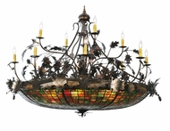 Meyda Tiffany 100424 Greenbriar Oak 50 Inch Diameter 18 Candle Rustic Chandelier Light