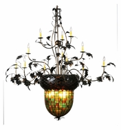 Meyda Tiffany 100697 Greenbriar Oak 15 Candle 63 Inch Diameter Rustic Hanging Chandelier