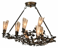 Meyda Tiffany 131817 Vinca Rustic 30 Inch Diameter 7 Lamp Chandelier Lighting