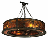 Meyda Tiffany 132627 Whispering Pines Oil Rubbed Bronze Rustic Lighting Chandelier